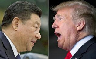 米トランプ大統領(右)と中国の習近平(シー・ジンピン)国家主席(左)