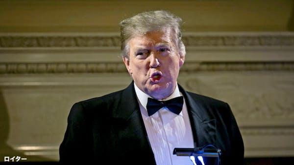 トランプ氏は北朝鮮の非核化を急がない姿勢を改めて示した(24日、ワシントン)=ロイター