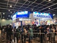 2月22~24日に開催したアニメイベントで、多くの人を集めた香港角川有限公司のブース(香港)
