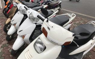 ハノイでよく見かけるホンダのバイク
