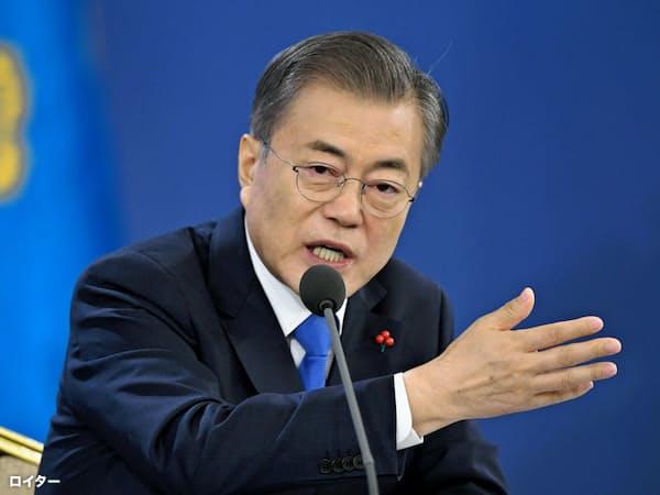 韓国の文在寅(ムン・ジェイン)大統領=ロイター