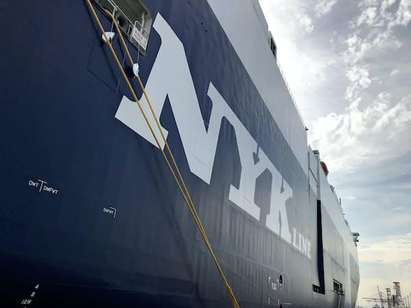 世界貿易の成長鈍化は逆風だが…(日本郵船の自動車船)