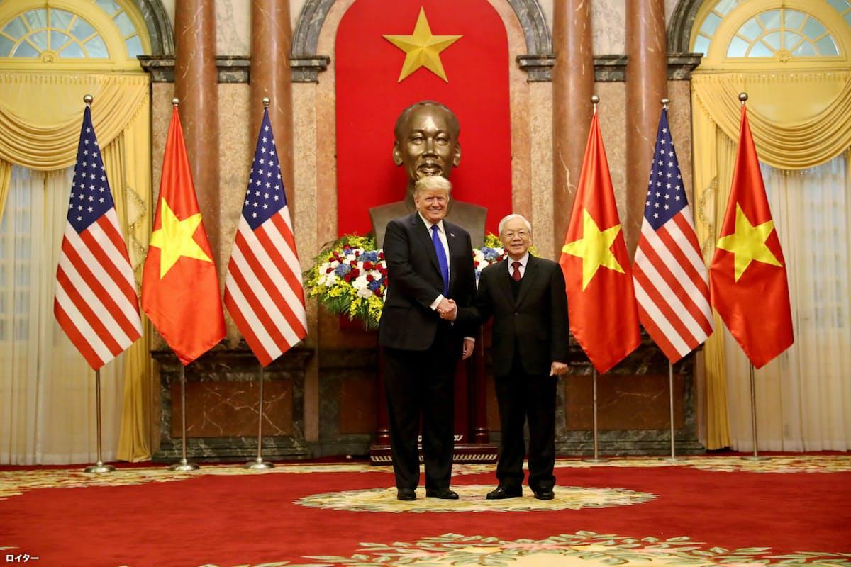 トランプ大統領とベトナム書記長が会談