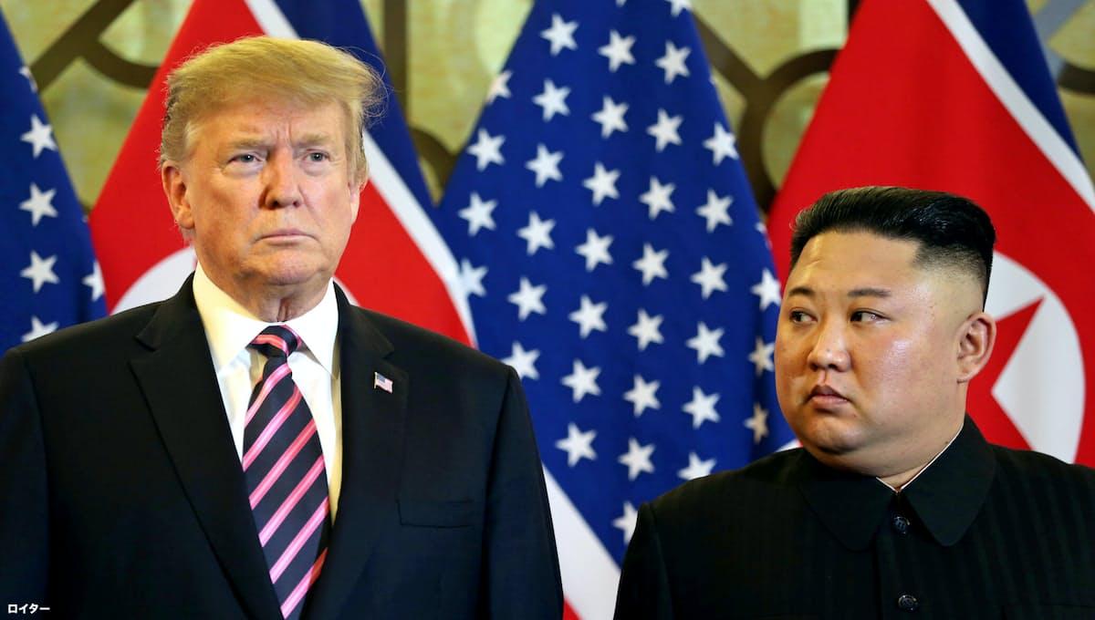 会談に臨む両首脳=ロイター