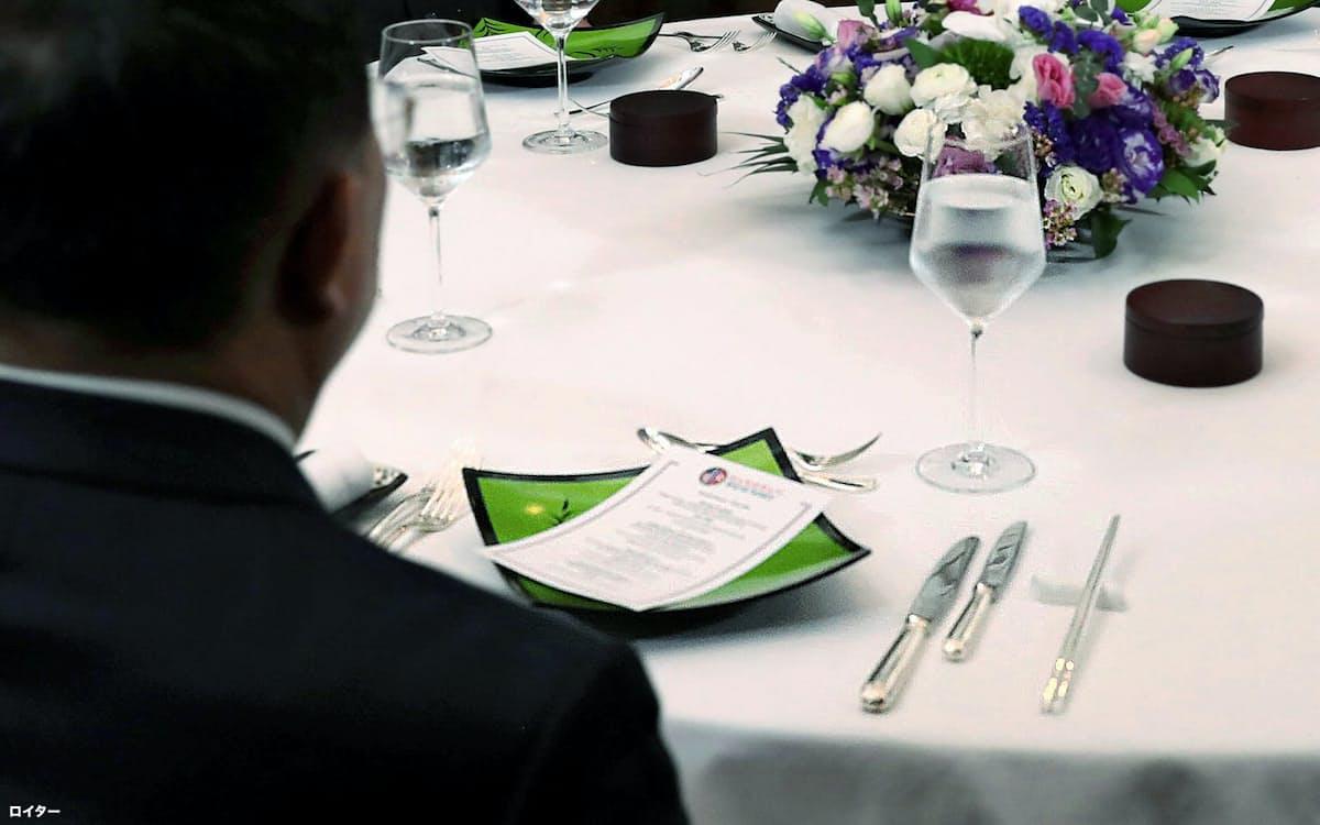 米朝首脳が出席した夕食会