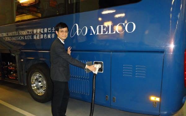 大型電気バスを大量に採用