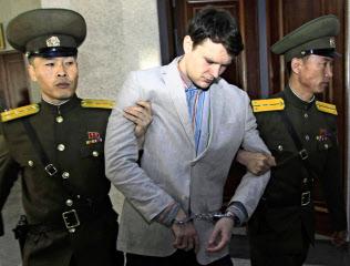 北朝鮮で拘束されたワームビア氏(2016年3月、平壌)=AP