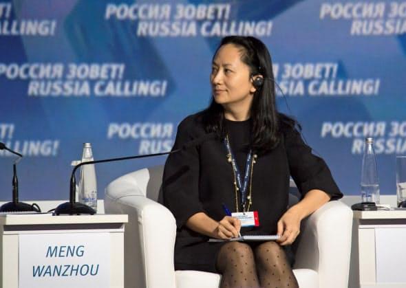 カナダで保釈中のファーウェイの孟晩舟・副会長兼最高財務責任者(CFO)。中国側はカナダ司法省の主張に争う姿勢をみせている=ロイター
