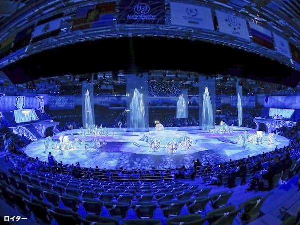 2日、ロシアのクラスノヤルスクで開幕した第29回ユニバーシアード冬季大会=ロイター