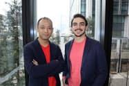500スタートアップスから独立し、コーラル・キャピタルを設立したジェームズ・ライニー氏(右)と沢山陽平氏