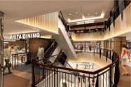 22日に改装開業する秋田駅ビル「トピコ」のレストランフロア(イメージ)
