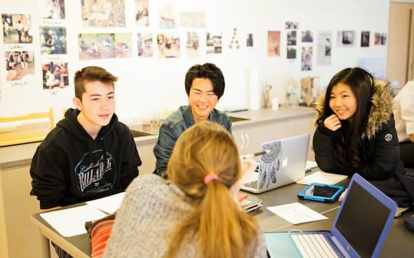 ISAKでは様々な国・地域出身の生徒が一緒に学んでいる