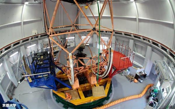 完成した大型望遠鏡「せいめい」(京都大学提供)