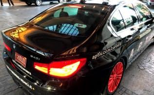 米リフトはサービスの種類が多く、一部地域では自動運転車も提供している(1月、米ラスベガス)