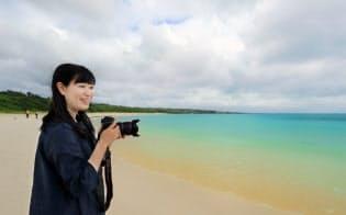 沖縄県宮古島市に滞在する写真家、南谷有美さん