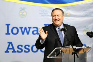 4日、ポンペオ米国務長官は北朝鮮との対話継続に改めて意欲を示した(アイオワ州)=AP