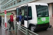学生らの構内の移動手段として18年度の実用化をめざす(福岡市)