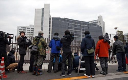 日産自動車のゴーン元会長が勾留されている東京拘置所(6日午前、東京都葛飾区)