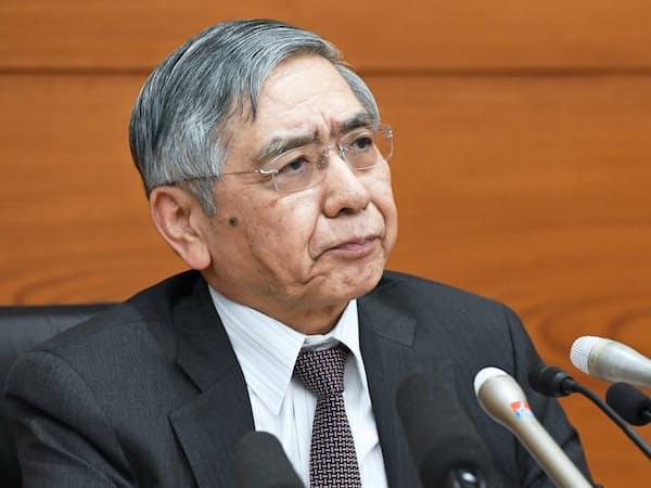 金融政策は緩和的な方向に向かいやすくなっている(黒田東彦日銀総裁)