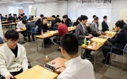 日本、中国、韓国、台湾のトップ棋士が参加した(1月、東京都千代田区)