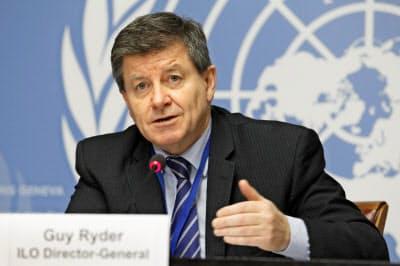 ILOのライダー事務局長は労働市場での男女格差の縮小に向け法制度の強化などを訴えている=ロイター