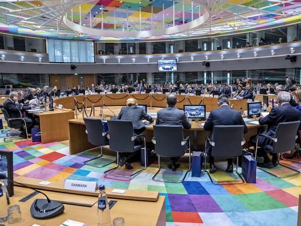 EU閣僚理事会はリスト案を全会一致で拒否した(7日、ブリュッセル)=欧州理事会提供