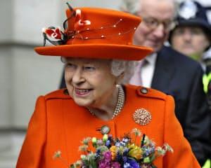 エリザベス英女王は5年前にはツイッターに投稿して話題になった=AP