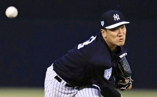 田中は日本投手で最多となる4度目の開幕投手に決まった=共同