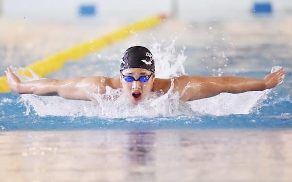 瀬戸の泳ぎはこの1年で力強さと伸びやかさが増した