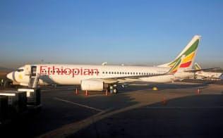 エチオピア航空のボーイング737(17年1月、アディ?#25915;ⅴ佶校漸恁ぅ咯`