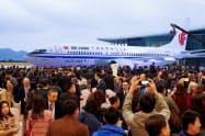 中国国際航空が購入したボーイング737MAX機=ロイター