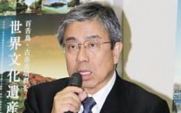 元大阪府副知事の小西禎一氏(2015年3月、大阪府藤井寺市)