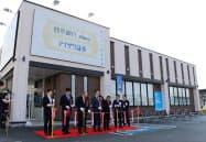 西京銀行は藍沢証券との共同店舗を開設した(11日、下関市)