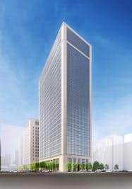 淀屋橋エリアで最も高いオフィスビルとなる予定