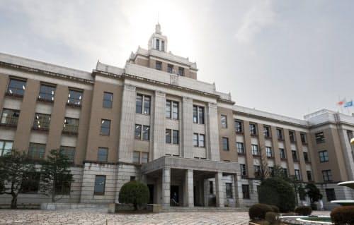 1939年に竣工した滋賀県庁舎本館。滋賀県を代表する近代建築の一つとされる