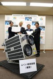 2020年4~9月の打ち上げを目指す県民衛星の模型