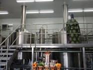 独歩ビール醸造設備一新で神事も行った(11日、岡山市)