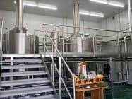 一新した「独歩ビール」の醸造設備