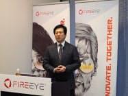 ファイア・アイ日本法人の西村隆行社長は「メール100万通のうち危険なメール200件が監視の目をすり抜けていた」と説明する