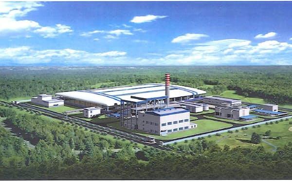 発電所の完成予想図