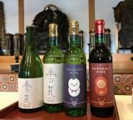 大願成就の祈祷を受けた「雪丸ワイン」「達磨寺ワイン」(奈良県王寺町の達磨寺)
