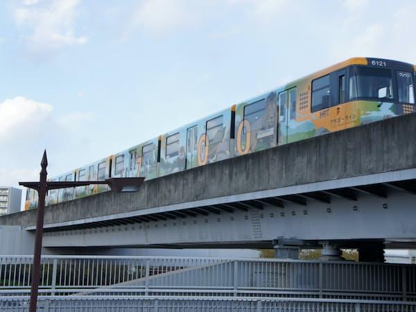 アストラムラインの運行車両(広島市)