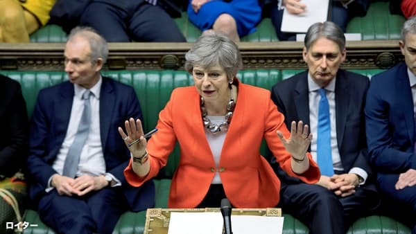EU離脱、打開策なきメイ英首相 見直し案も否決