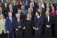ブリュッセルで開かれたシリア支援国会合(14日)=AP通信