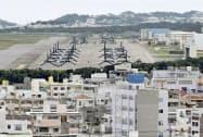 沖縄県宜野湾市の米軍普天間飛行場