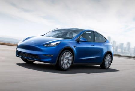 テスラが初公開した新型EV「モデルY」