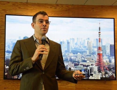インスタグラム責任者のアダム・モッセーリ氏(15日、東京・港)