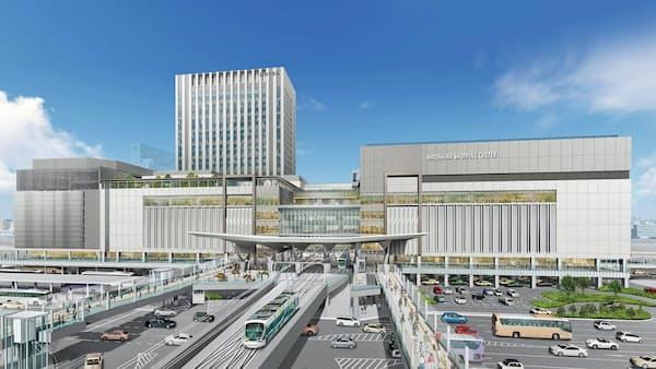 広島駅新駅ビル25年春開業 2階に路面電車乗り入れ