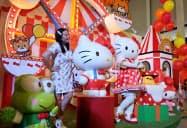 サンリオの人気キャラクターを集めた屋内型テーマパーク「ハローキティ ゴーアラウンド!!」(15日、バンコク)