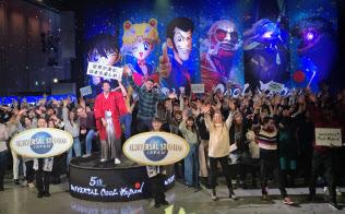 「名探偵コナン」など海外でも人気の高いコンテンツをそろえた(17日、大阪市)
